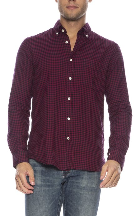 Hartford Side Checker Button Down Shirt - BLUE/RED