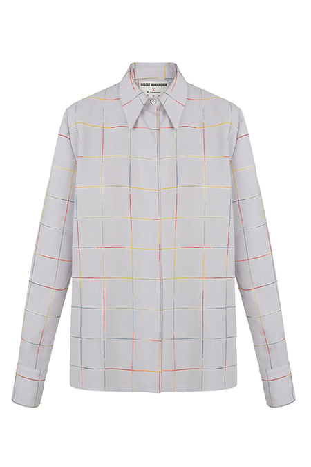 N-DUO shirt - Violet checkered
