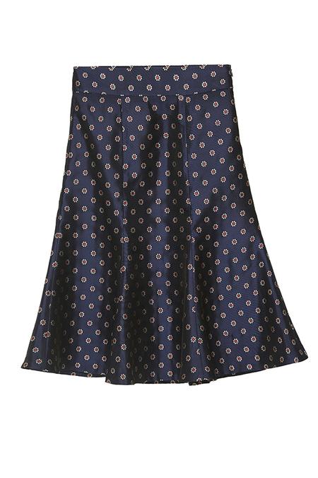 N-DUO printed skirt - Navy