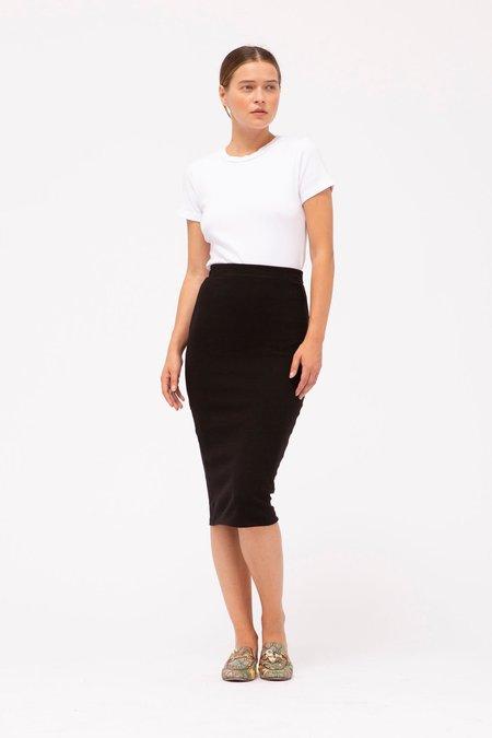 stateside rib midi skirt - black