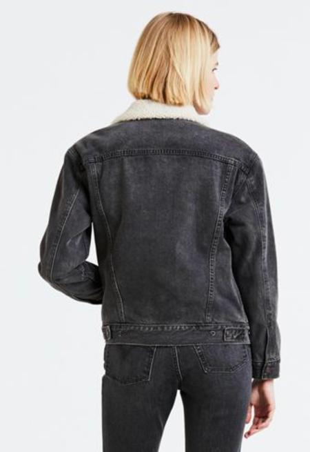 Levis X-BF Sherpa Trucker Jacket - Fade To Black