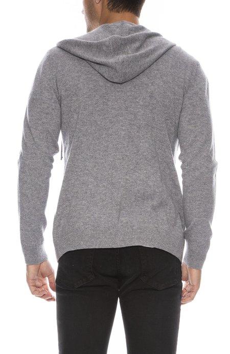 RON HERMAN Exclusive Cashmere Zip Hoodie - Medium Grey