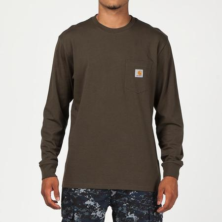 Carhartt WIP Long Sleeve Pocket T-shirt - Cypress