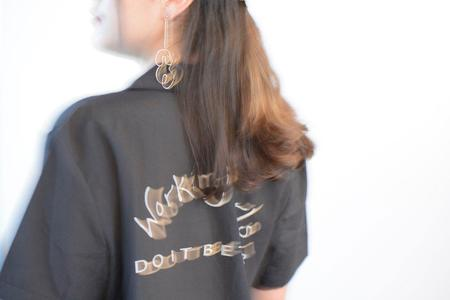 Unisex Working Girls Do It Better Bowling Shirt - A La Madonna - Black/Tan Print
