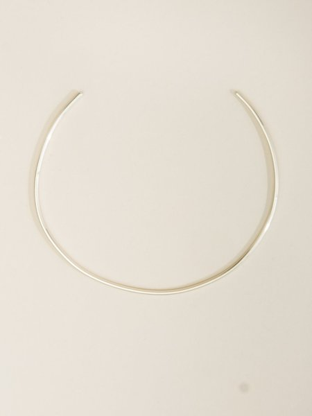Another Feather Thin Pace Collar Necklace - Silver