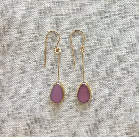 I. Ronni Kappos Drop Earrings - Pink Petal