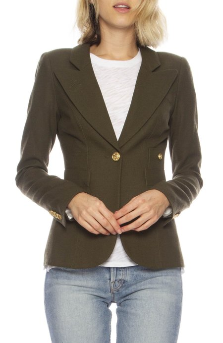 Smythe Duchess Single Button Blazer - Army