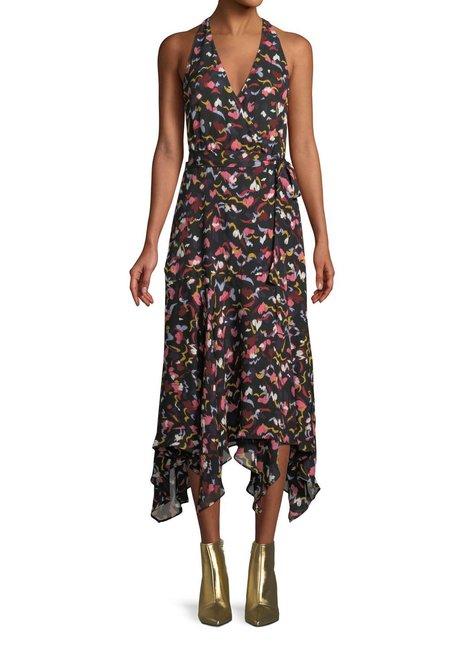 A.L.C. Roslyn Dress - CORAL MULTI
