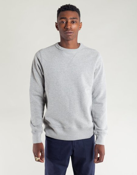 Tellason Heavyweight Crew Neck Sweatshirt - Heather Grey