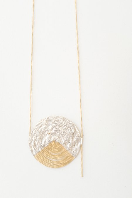 Hannah K Hula Roman Necklace - Warm Brass