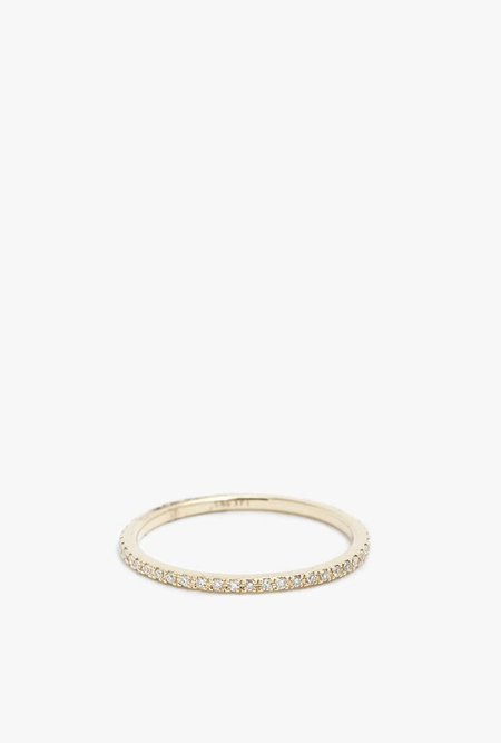 Gabriela Artigas 14K Yellow Gold White Diamond Ring