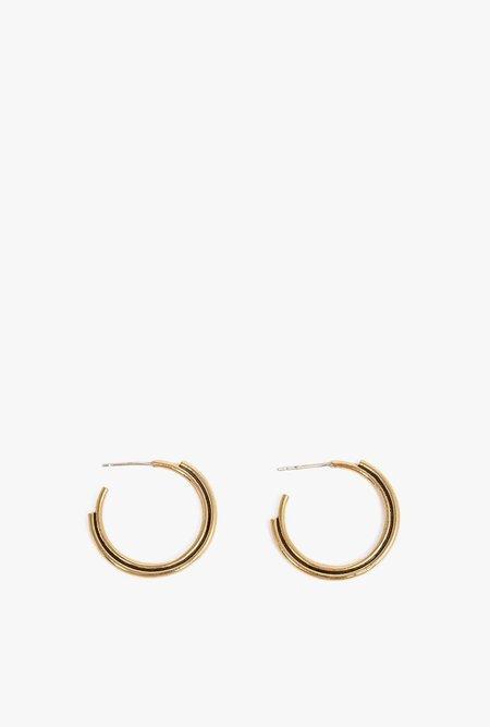 Artifacts Big Arc Hoop Earrings - Brass