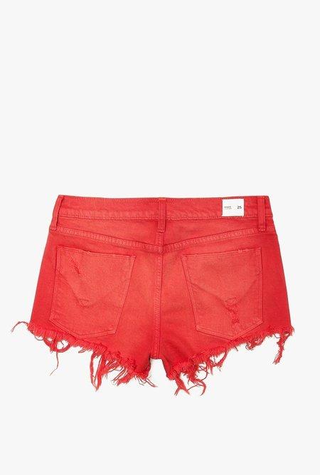 Hudson Jeans Kenzie Cut Off Jean Shorts - RED ALERT