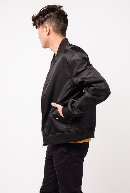 THE VERY WARM Light Reversible Bomber Jacket - BLACK