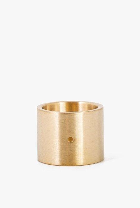 Marmol Radziner Doublewide Lightweight Solid Ring - Brass