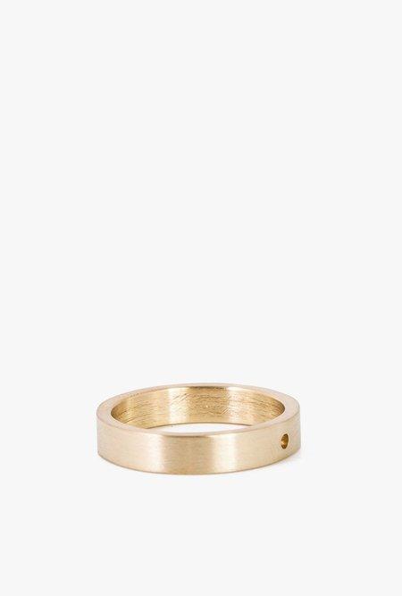 Marmol Radziner LW Solid Thin Ring - Brass Light