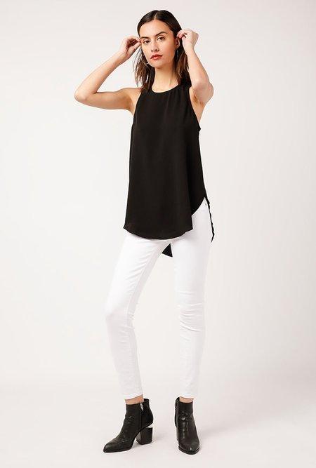 Azalea Nina Hi Low Zipper Top - BLACK