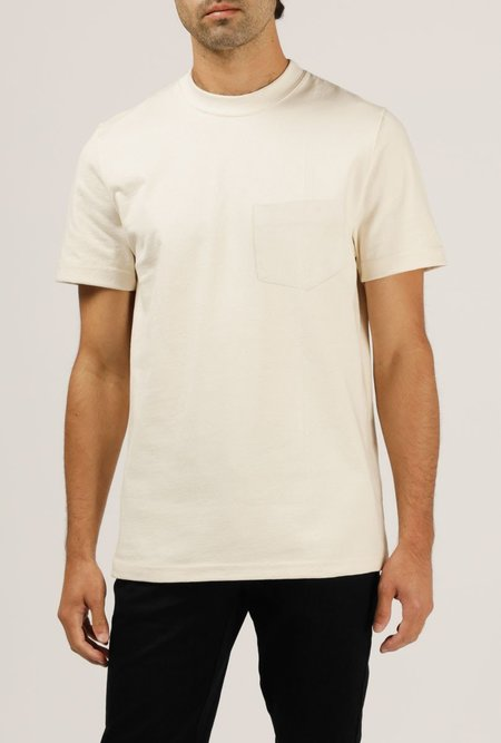 WELCOME STRANGER 8 oz Bison Pocket Tee - NATURAL