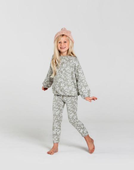 KIDS Rylee & Cru Flower Field Slouchy Pullover