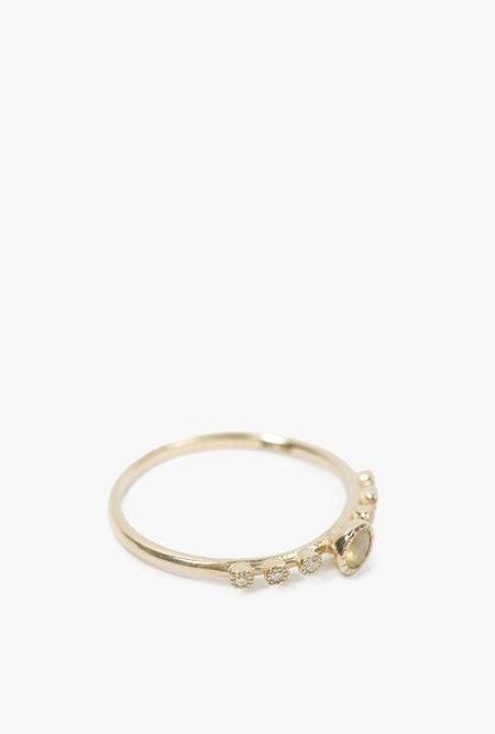 Jennie Kwon Round Opal Dew Ring - 14k Gold