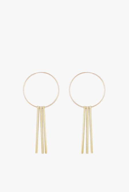 Ak Studio Sky Light Earrings - Brass