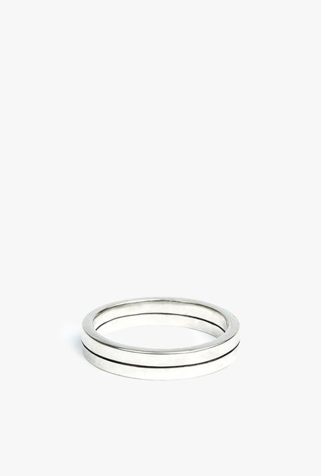 The Sum The Line Ring - Sterling Silver