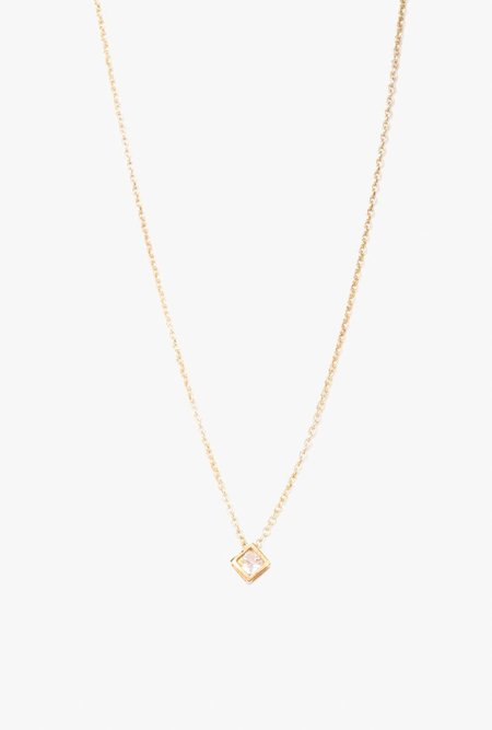 Ak Studio Diamond Necklace - Brass