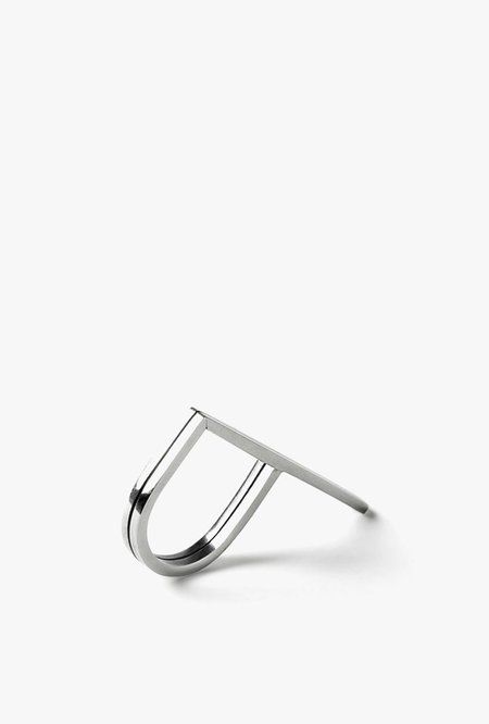 The Sum Double Signet Ring - STERLING SILVER