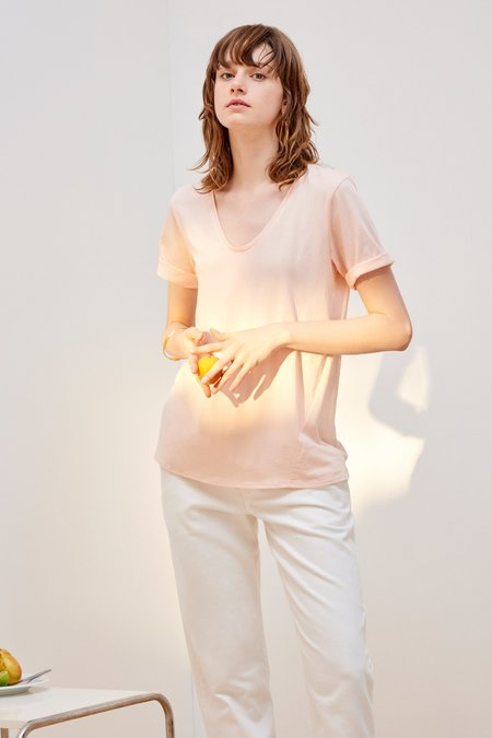 Kowtow Building Block V Tee - Light Pink