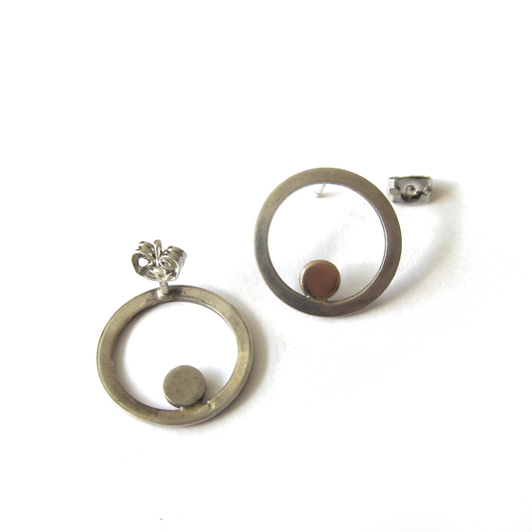Alynne Lavigne Vintage Collection Two Tone Circle Earrings