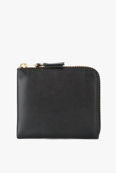 Comme des Garçons Half Zip Wallet - BLACK