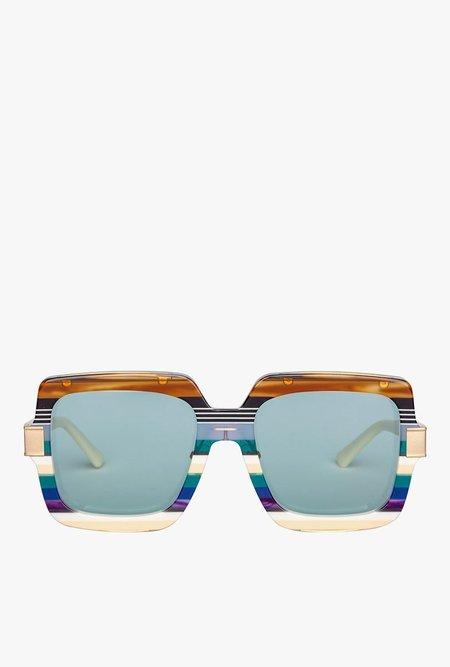 Bonnie Clyde Mancuso Sunglasses - Stripe Teal