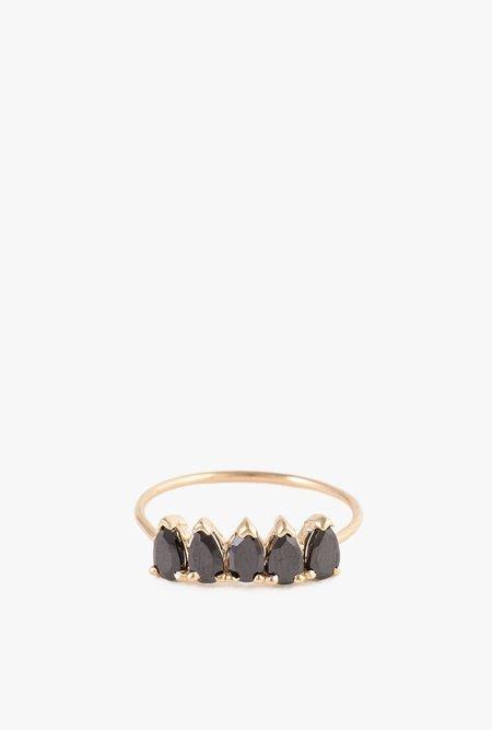 Loren Stewart Onyx Band Ring - 14k Gold
