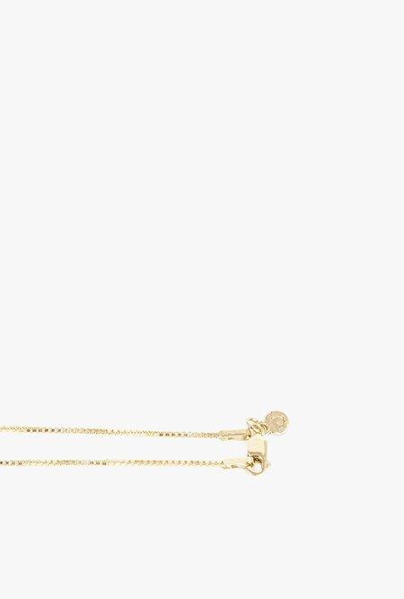 Ak Studio Stone Circle Necklace - 14k Gold Fill