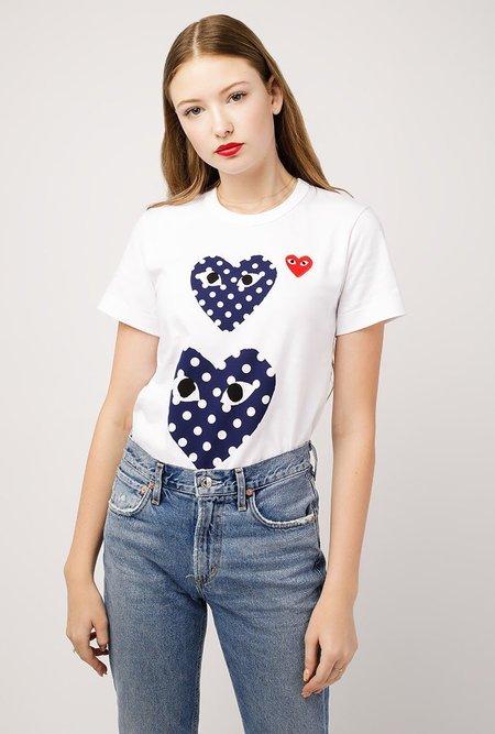 Comme des Garçons Polka Dot T-Shirt - White