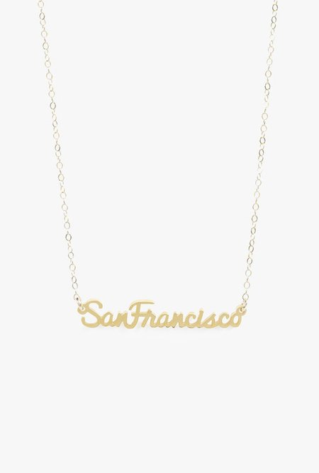 Seoul Little San Francisco Necklace - 14k Gold Fill