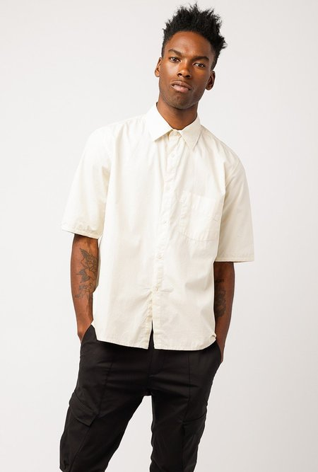 L'Homme Rouge Servant SS Striped Shirt - Off White