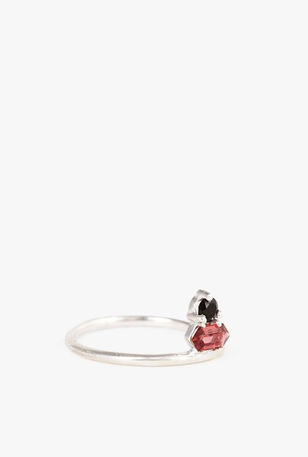 Tarin Thomas Shay Ring - Sterling Silver/Garnet