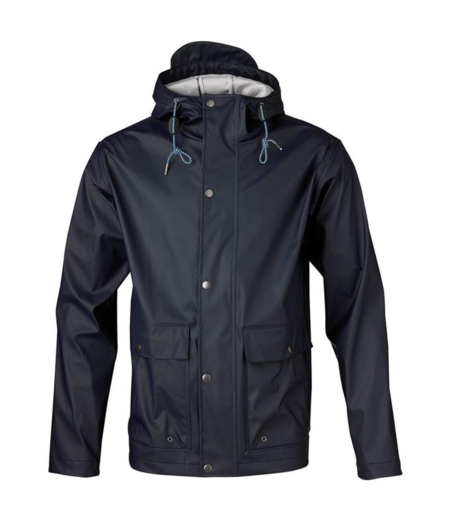 Knowledge Cotton Apparel Rain Jacket - Total Eclipse