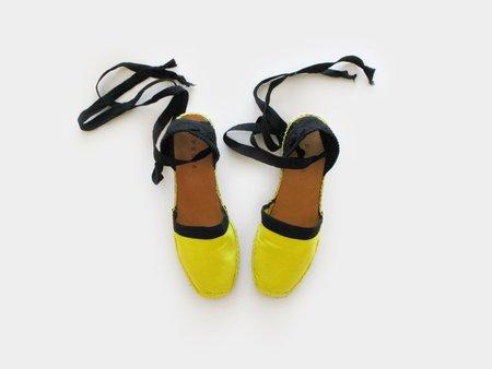 PK214 Juane Espadrilles - Yellow/Black