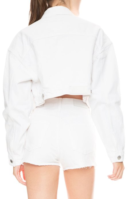 SOLID & STRIPED X RE/DONE Hollywood Cropped Jacket - Dirty White