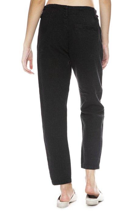 Pas De Calais Linen Pants With Buckle Tab Waist