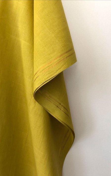 Two Caftan - Saffron with Gold Stripes