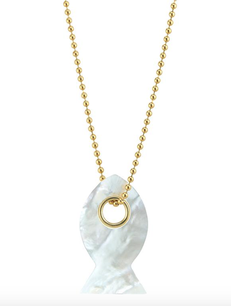 Asha Fish Pendant - Mother of Pearl