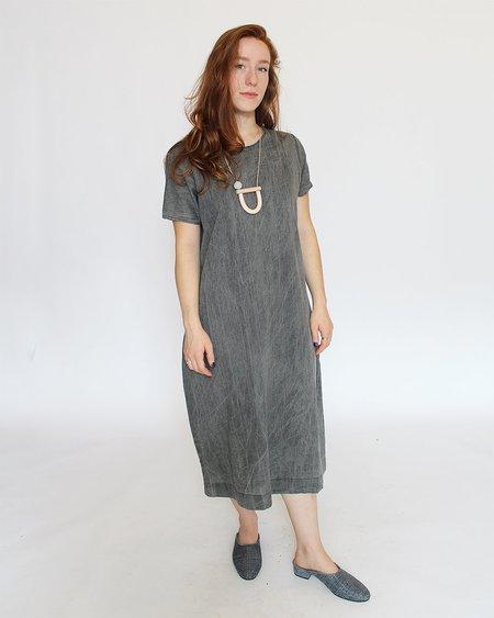 Uzi NYC Tee Dress - Acid Wash Black