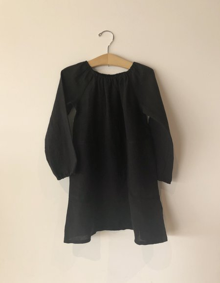 KIDS Boy+Girl Peasant Dress - Black Hatch
