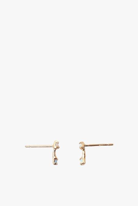 Valley Rose Studio Maia Earrings - GOLD/OPAL