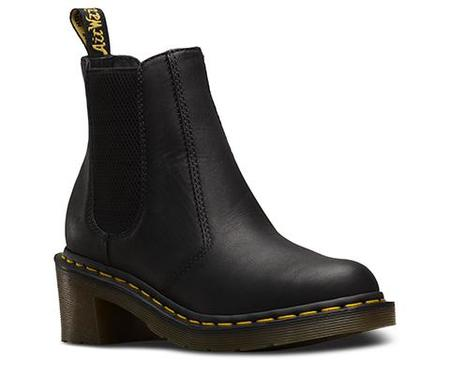 Dr. Martens Cadence Greasy Chelsea Boot - Black
