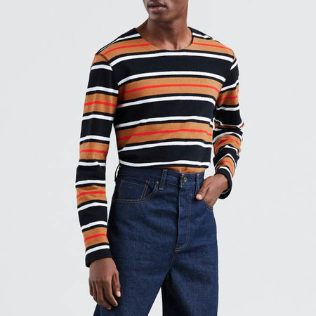 Levi's Made & Crafted Long Sleeve Tee - Black Multi Stripe