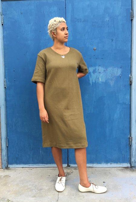 Sunja Link Cotton Dress - Olive